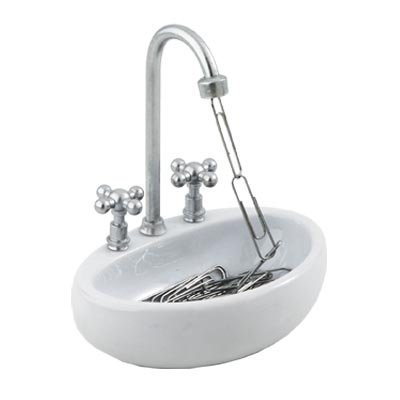 Basin Sink Paperclip Holder