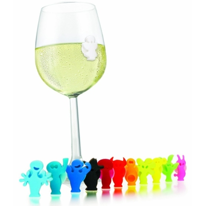 Vacu Vin Party People Wine Charms Tags Drink Markers