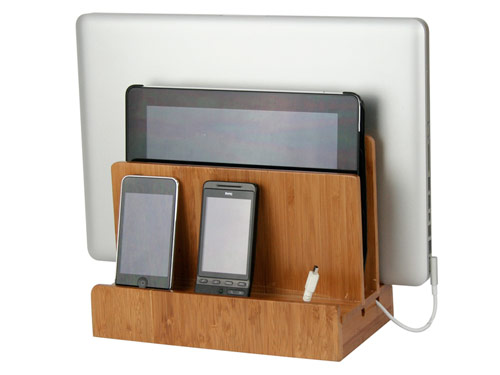 bamboo multi charging station center