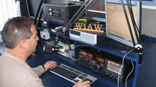 A typical ham radio operator and station