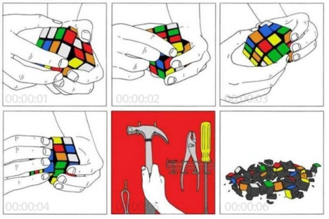 How to Solve a Rubik's Cube in Six Seconds