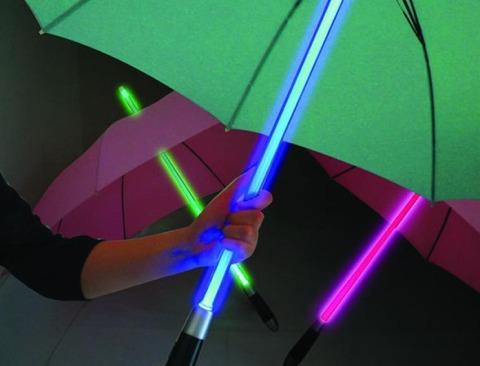 Black Umbrella w/ Color Changing Handle