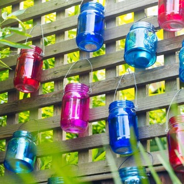 Colored or not, mason jars with Fairy Berries will mimic the look of captured fireflies.