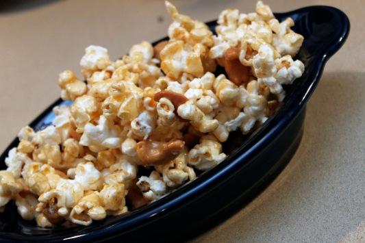 Spicy Maple Cashew Popcorn