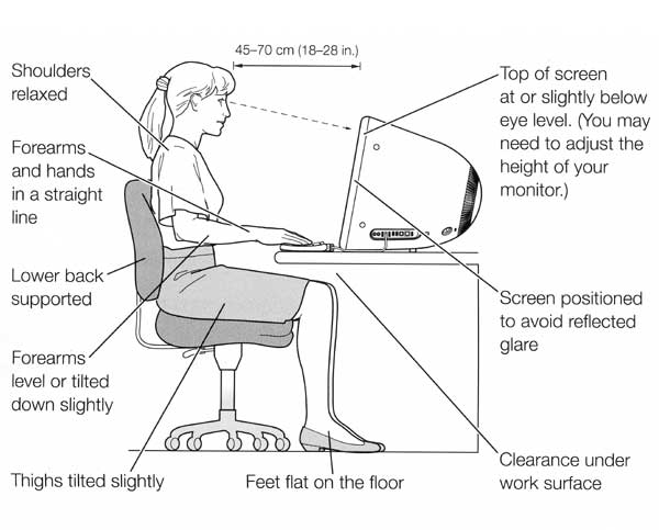 Ergonomically yours workstation basics fun goods for for Office design ergonomics