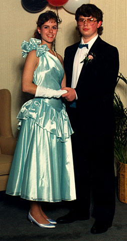 Ask guests to revive their old prom outfits-- hey, it sure beats letting the moths in the closet get to them!