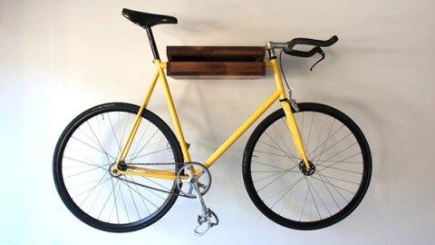 Bike storing bookshelf