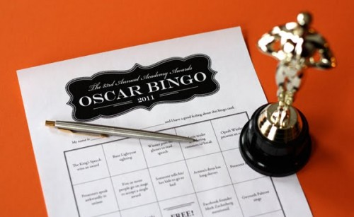 Printable Oscar bingo cards involve everyone more than just watching the Oscars show.