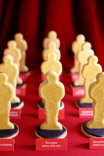 Oscar-shaped cookies let every guest have an award-- and then they can eat it, too! Everyone wins!