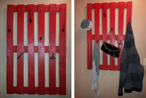 Pallet Wall Coat Rack