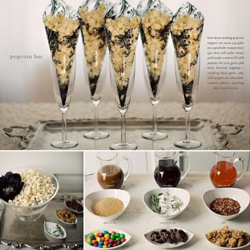 Use unsalted popcorn with different available seasonings and sauces for guests to create their own unique blend of Oscar Popcorn!
