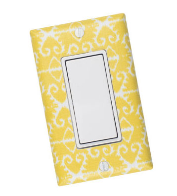 Slightly Smitten Kitten Citron Yellow Light Switch Plate Cover