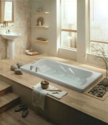 A zen bathroom is simple. No, really, it is.