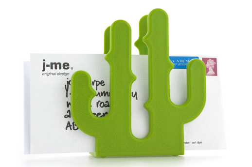 cactus letter holder green