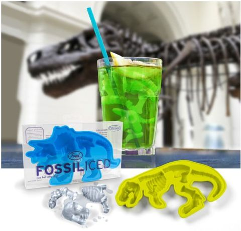Fossiliced dinosaur ice tray