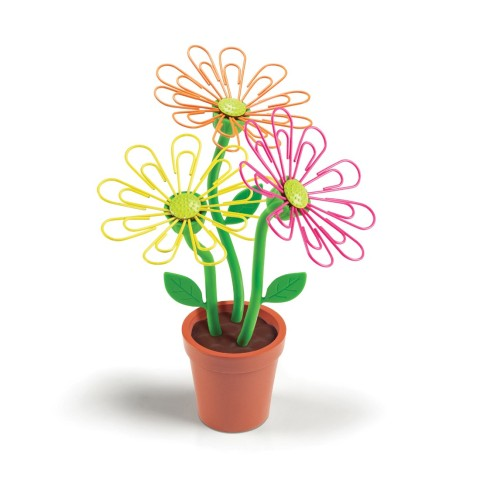 desk-daisy paper clip holder desk spring