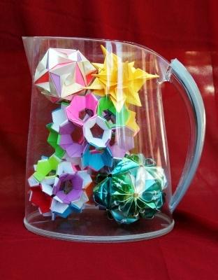origami in a jug