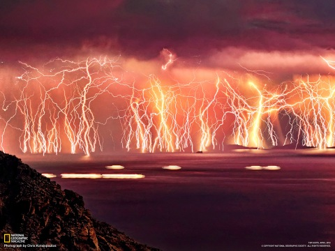 Greek Lightning Nature Earth photos National Geographic