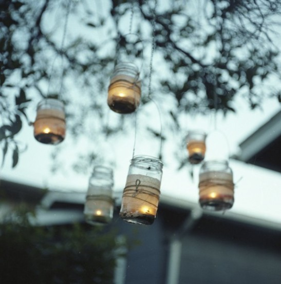 diy mason jar candle lanterns