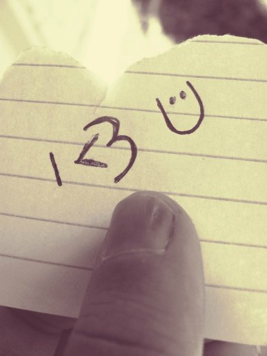Heart Love Note