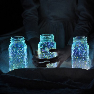 diy mason jar fireflies