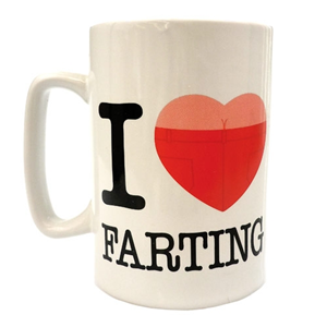 i heart farting talking mug