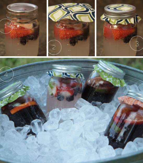 diy mason jar fruit drinks