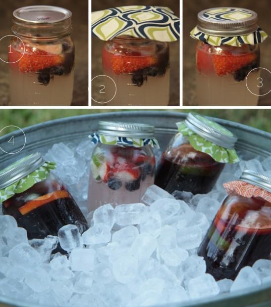 diy mason jar fruit drinks