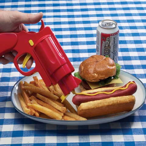 Condiment Gun Fun BBQ Party Mustard Ketchup Server