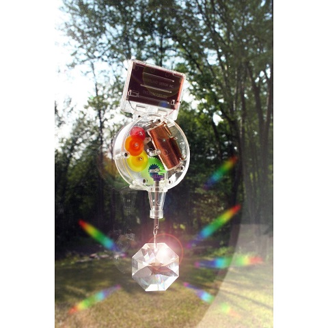Swarovski crystal solar powered rainbow maker