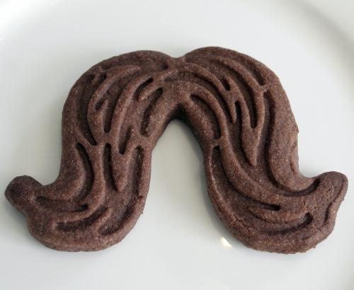Mustache cookie cutters