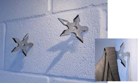 Ninja Star Coat Hooks