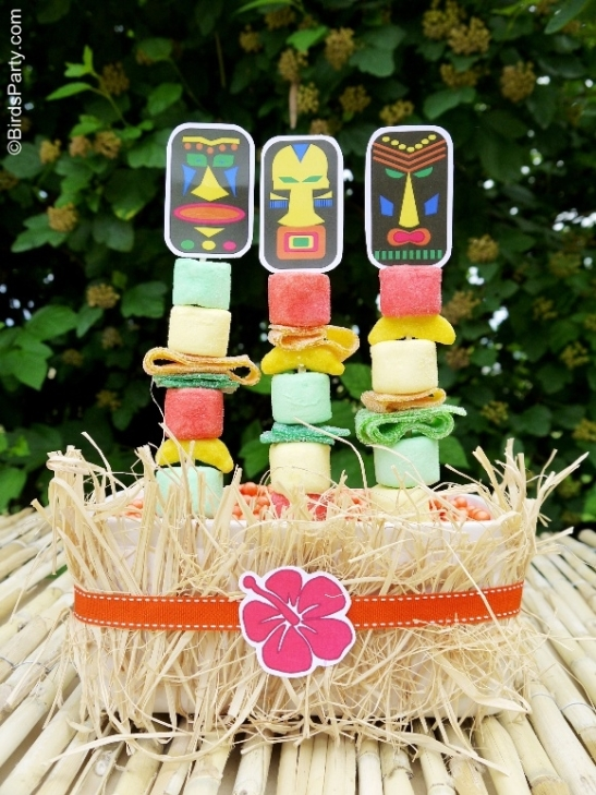 Tiki Luau hawaiian totem pole party prinatbles party ideas partyware party shop buy pary supplies10