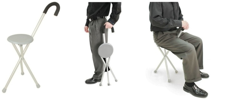 2-in-1 Walking Cane and Seat