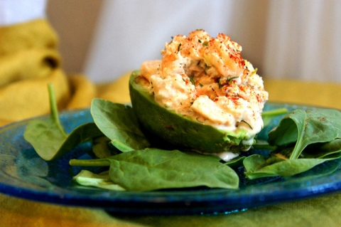 Avocados Stuffed with Shrimp and Crab Salad Shark Week Recipes