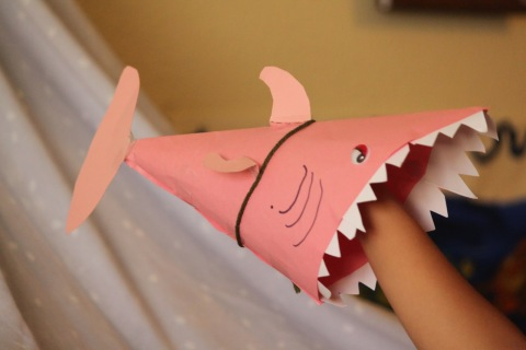 shark week party hats diy