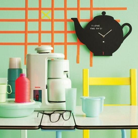 Chalkboard Teapot Clock