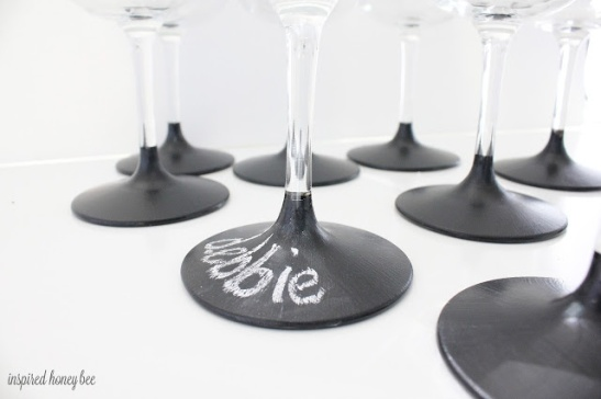 Chalkboard Dipped Glasses