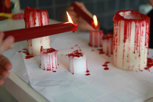 Image result for bloody candles