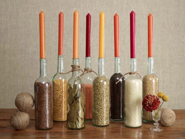 13 creative diy thanksgiving centerpieces fun goods for Inexpensive thanksgiving centerpieces