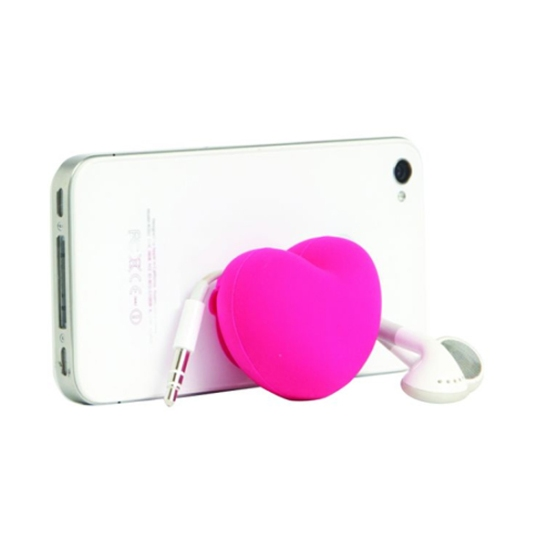 Cell phone stand and headphone organizer