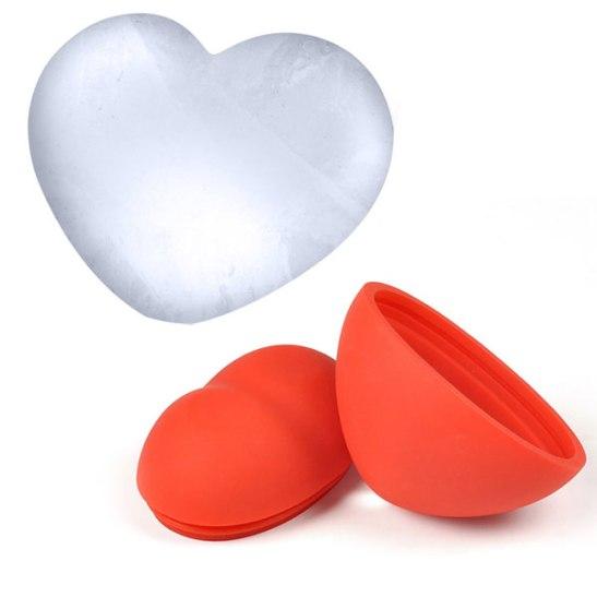 3D Heart Shaped Ice Cube Mold
