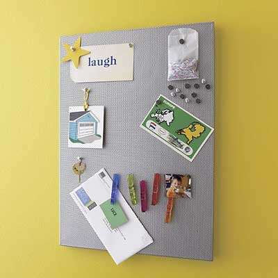 Perforated Metal Bulletin Board