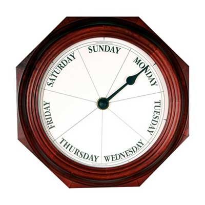 Classic Mahogany Day Clock
