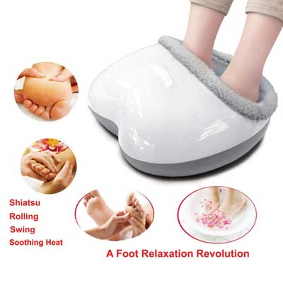 Carepeutic Acupressure Swing Motion Shiatsu Rolling Foot Massager with Heated Therapy