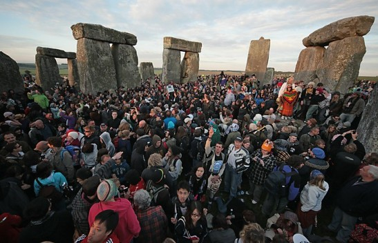 Revelers celebrate Summer Solstice at Stonehenge; image courtesy of The Washington Post