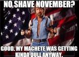 Chuck Norris Movember Meme