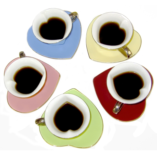 Inside Out Heart Cup Saucer
