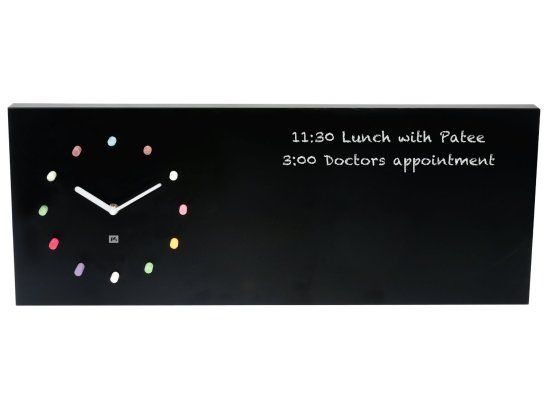 Present Time Chalkboard Wall Clock
