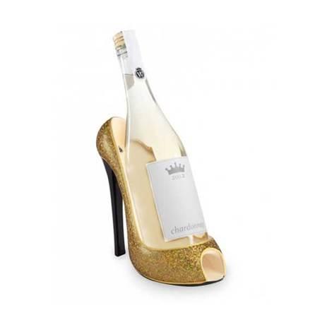 High heeled wine bottle holder